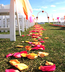 Flower Power of Davenport will decorate your wedding ceremony.