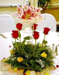Reception Flowers by Flower Power of Davenport