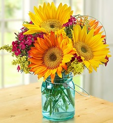 Warm Sunset Bouquet Flower Power, Florist Davenport FL