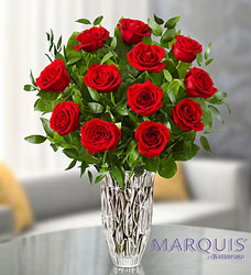 Marquis by Waterford Premium Red Roses Flower Power, Florist Davenport FL