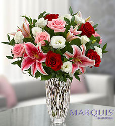 Marquis by Waterford Rose and Lily Flower Power, Florist Davenport FL