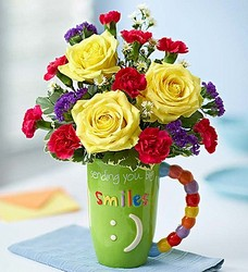 Mugable Sending Big Smiles Flower Power, Florist Davenport FL
