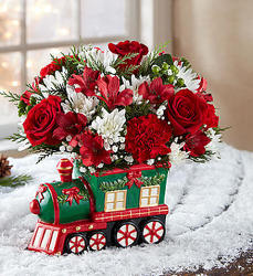 Christmas Express Train Flower Power, Florist Davenport FL