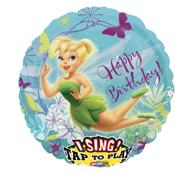 Tinkerbell Birthday Singing Balloon Flower Power Florist Davenport FL