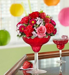Strawberry Margarita Flower Power, Florist Davenport FL