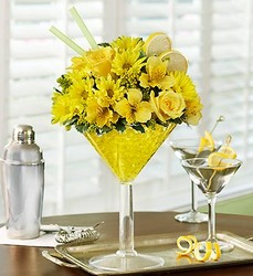Martini Bouquet - Lemon Drop Flower Power, Florist Davenport FL
