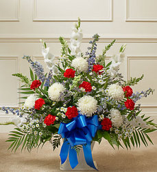 Heartfelt Tribute - Patriotic Flower Power, Florist Davenport FL