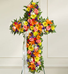 Standing Cross - Bright Flower Power, Florist Davenport FL