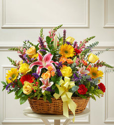 Bright Flower Sympathy Basket - Bright Flower Power, Florist Davenport FL