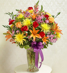 Beautiful Blessings Vase - Bright Flower Power, Florist Davenport FL