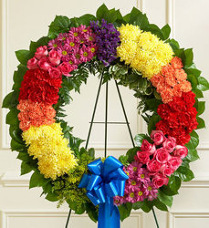 Standing Wreath - Bright Flower Power, Florist Davenport FL