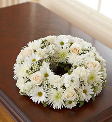 Cremation Wreath - White Flower Power, Florist Davenport FL