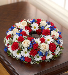 Cremation Wreath - Patriotic Flower Power, Florist Davenport FL