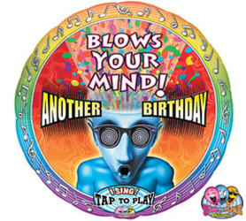 Birthday Blows your Mind Singing Balloon Flower Power, Florist Davenport FL