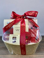 Godiva Grand Chocolate Basket Flower Power, Florist Davenport FL