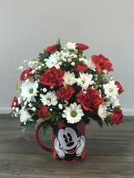 Mickey's Coffee Cup Flower Power, Florist Davenport FL