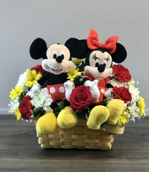 Mickey and Minnie in Love Flower Power, Florist Davenport FL