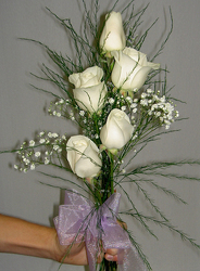White Rose Bouquet Flower Power, Florist Davenport FL