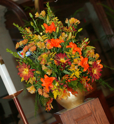 Fall Altar Arrangement Flower Power, Florist Davenport FL