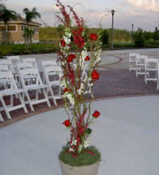Rose and Orchid Ceremony Arrangement Flower Power, Florist Davenport FL