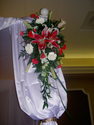 Cascading Ceremony Arrangement Flower Power, Florist Davenport FL