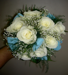 Dozen White Rose Bouquet Flower Power, Florist Davenport FL