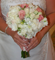 Blushing Bride Bouquet Flower Power, Florist Davenport FL