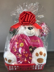 Valentines Extra Large Plush Chocolate Basket  Flower Power, Florist Davenport FL