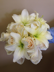 White Rose and Lily Bouquet Flower Power, Florist Davenport FL