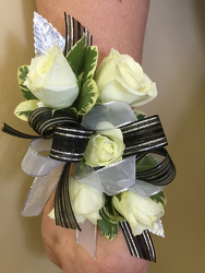 Black and White Corsage Flower Power, Florist Davenport FL