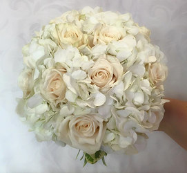 White Rose and Hydrangea Bouquet Flower Power, Florist Davenport FL