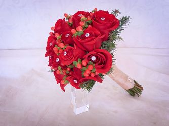 Red Rose and Diamond Bouquet Flower Power, Florist Davenport FL