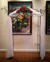 Red Rose Arch Arrangement Flower Power, Florist Davenport FL