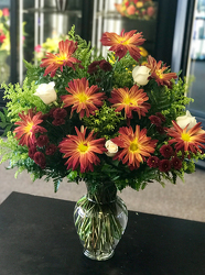 Red Rover Vase Arrangement Flower Power, Florist Davenport FL
