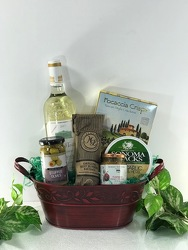 Wine and Gourmet Basket Flower Power, Florist Davenport FL