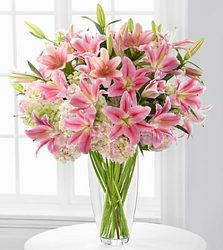 Luxury Lily & Hydrangea Bouquet Flower Power, Florist Davenport FL