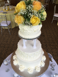 Yellow Rose Cake Topper Flower Power, Florist Davenport FL