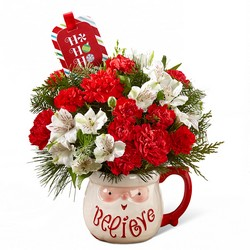 Believe Mug Bouquet by Hallmark Flower Power, Florist Davenport FL