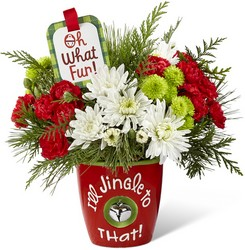 I'll Jingle to That Bouquet by Hallmark Flower Power, Florist Davenport FL