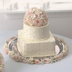 Rose and Stephanotis cake decor Flower Power, Florist Davenport FL