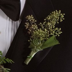 Seeded Eucalyptus Boutonniere Flower Power, Florist Davenport FL