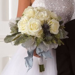 White Rose Hand Tied Flower Power, Florist Davenport FL