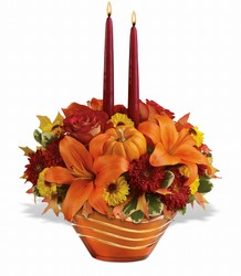 Fall Glow Centerpiece Flower Power, Florist Davenport FL