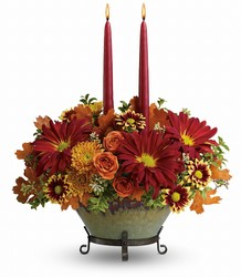 Tuscan Autumn Centerpiece Flower Power, Florist Davenport FL