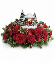 Thomas Kinkade's Visiting Santa *2016* NEW Flower Power, Florist Davenport FL