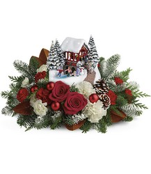 Thomas Kinkade's Snowfall Dreams Bouquet *2018* Flower Power, Florist Davenport FL