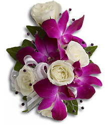 Orchids and Rose Corsage - Princess Flower Power, Florist Davenport FL