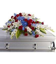 Distinguished Service Casket Spray Flower Power, Florist Davenport FL