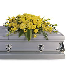 Graceful Grandeur Casket Spray Flower Power, Florist Davenport FL