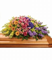 Garden of Sweet Memories Casket Spray Flower Power, Florist Davenport FL